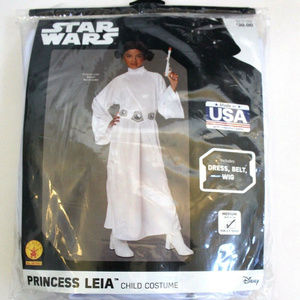 Star Wars Princess Leia Child Costume M 5-7 years